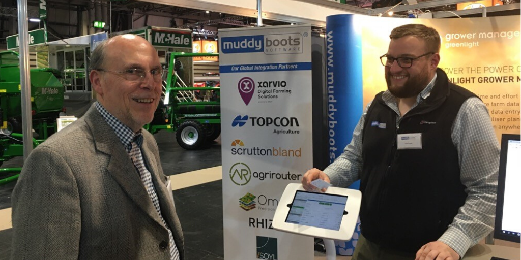 Barry Langdon talking to Muddy Boots Software at LAMMA2020